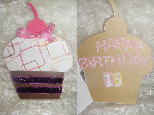13th Birthday Card- Cup Cake